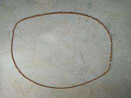Złoty łańcuszek próba 750 (żółte +białe złoto)