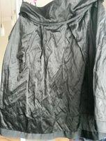spódnica czarna tafta gnieciona, podszewka Reserved