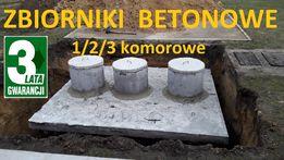 Zbiornik betonowy na szambo 10m3 z płyta najazdową Szamba z Atestem