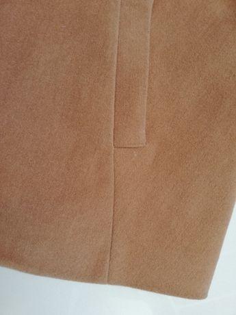 Piękny płaszcz 40/42 brąz L/XL, karmel, rękaw 3/4 j.Zara trapez Warszawa - image 3