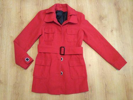Płaszcz zimowy r 40 czerwony Mołożów - image 1