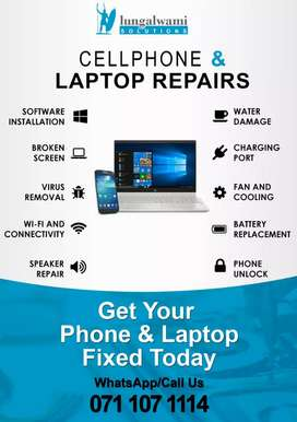 Repair computer and unluck phone