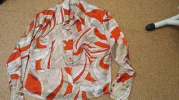 Блуза атласная оранжевая