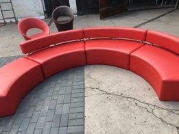 Zestaw mebli sofa fotel skóra stolik krzesła ekoskóra solidne