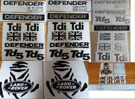 Land Rover defender vinyl cut decals stickers kits