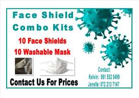 Face Shield and Mask Combo Kits