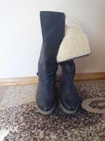Классные женские зимние кожаные сапоги