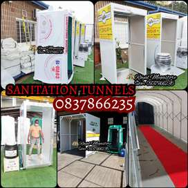 Exec Mobile Vip Toilets Sanitation Booth Tunnels  Frame Tents Freezers