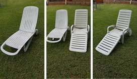 Plastic Pool Deck Chairs
