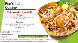 Rens Indian Cuisine - THIS WEEKS SPECIAL!!