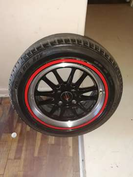 3 tyres with 4 Rims