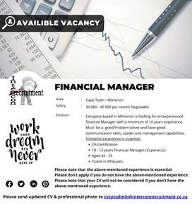 Financial Manager - Cape Town