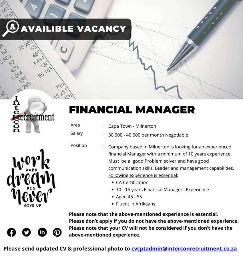 Financial Manager - Cape Town 0