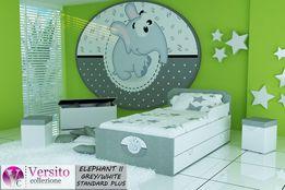 Łóżko dla dziecka tapicerowane,dziecięce z szufladą i materacem 10 cm
