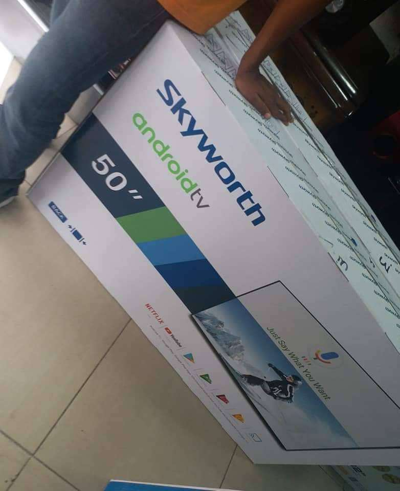 Latest 50inches Skyworth Smart Tv with Gold frame. Free delivery 0