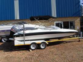 Panache 2150LX with 200HP Mariner outboard motor.