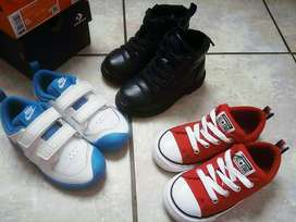 Kids branded shoes,Nike,Converse & Espirit boots