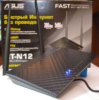 Продам беспроводной роутер Asus RT-N12 D1 300 Мбит/с (улучшено ПО)
