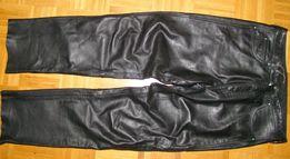 Polo**CZARNE SKÓRZANE spodnie męskie pas 88-90 r.36/32