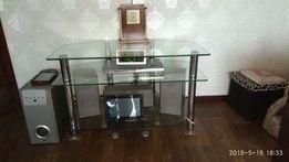 столик стеклянный под TV