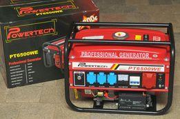 Генератор з електростартером 3-х фазний POWERTECH 4.5квт Германия.