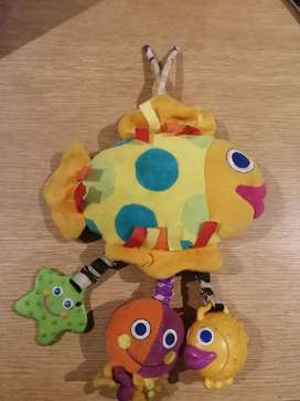 Colorful activity fish for babies