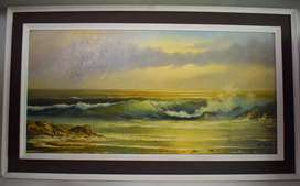 Hentie Meyer (Seascape) signed oil on canvas