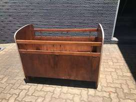 Antique baby cot with mattress
