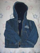 Курточка джинсовая на флисовой подкладке