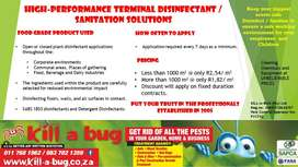 High-performance Terminal Disinfectant / Sanitation Solutions