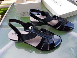 Nowe Sandały damskie r.38 buty Lasocki lakierowane
