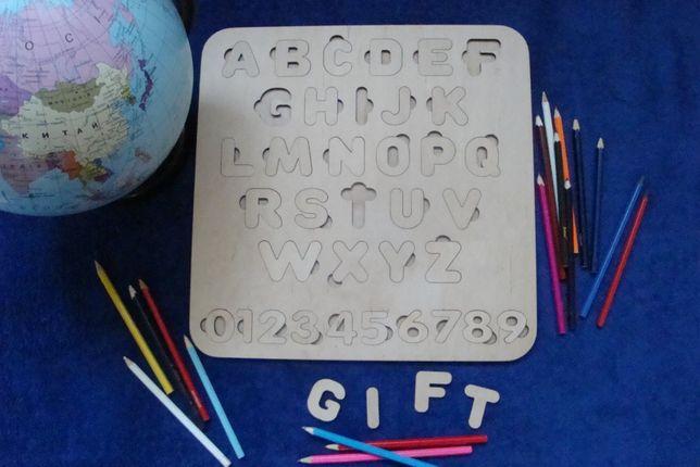 Алфавит, азбука , сортер, пазлы из дерева Чернигов - изображение 6
