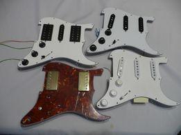 Pickguard stratocaster kompletnie zmontowane płytki