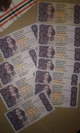 R5 old bank notes