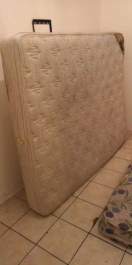 QUEEN SIZED BED +FRAMED HEADBOARD AND FOOTBOARD FOR SALE R1550