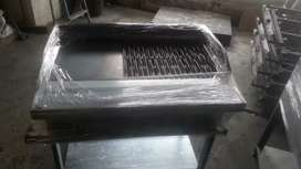 6 burner open flame gas grillers floor model