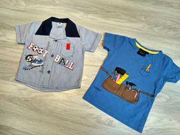 Jak nowe 2x koszulki bluzki zestaw bluzek dla chłopca 80,86