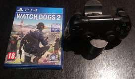 Watchdogs2 game plus PS4 Controller plus docking station