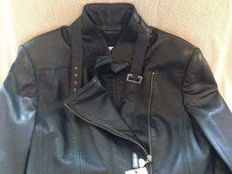 Новая кожаная куртка черная женская