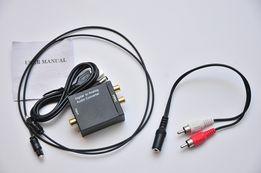 ЦАП Toslink Аудио конвертер с оптики на 3.5мм и тюльпаны DAC Новый