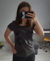 Szary T-shirt Cubus S