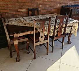 Solid Imbuia Ball and Claw Diningroom set