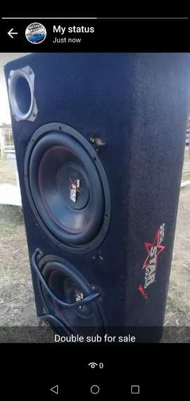 Star sounds double Subwoofer and box