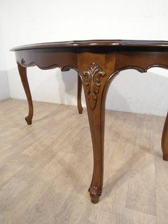 Rzeźbiona stylowa ława, stolik kawowy Ludwik Filip w idealnym stanie ! Łódź - image 7