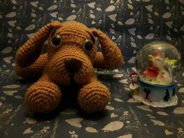 Собачка, эко-игрушка, амигуруми