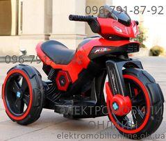 """Детский электромобиль Мотоцикл 3-х колесный """"BMW X-116""""+LED-свет+Кожа"""