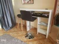 Home mini bar with 2 stools one rotating and hydrolic 0