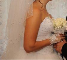 Свадебное платье Svarovski с камнями