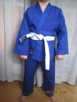 Кимоно кімоно для дзюдо джиу джитсу айкидо синее белое MATSA