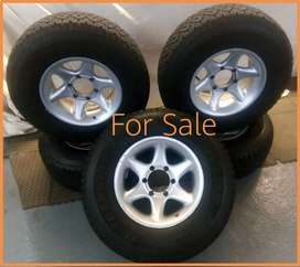"""15"""" 245/75R15C 6 Hole Dunlop 4x4 Mag with Tyres"""